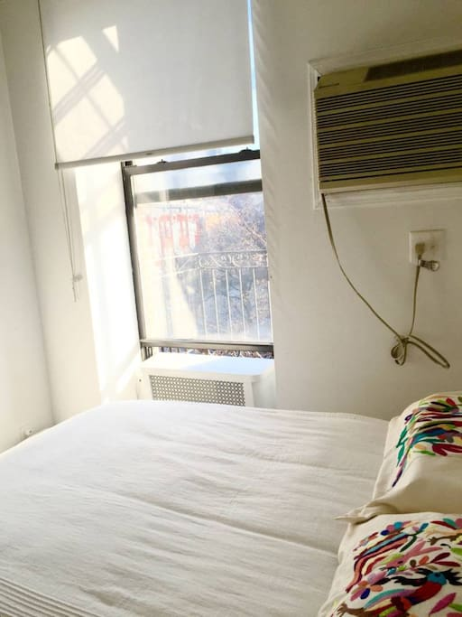 window open / fire escape / AC