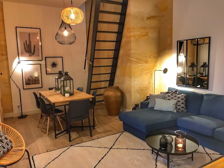 Maison de charme avec jardin à 10 min de Bordeaux