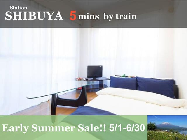 FF31 5min to Shibuya!/4min walk to closest STN - Setagaya-ku - Apartment