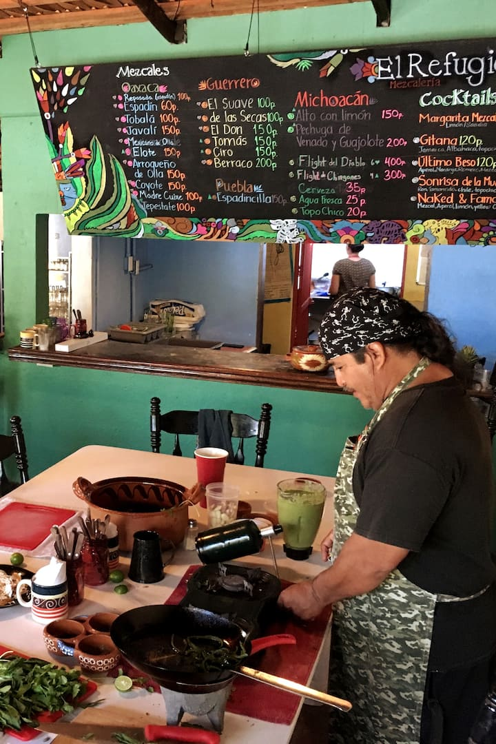 Cooking class in El Refugio