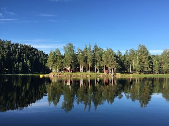 Entire island on the Pite river (Storsen, Sweden)