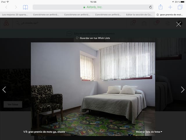 Habitación cama de matrimonio MotoGP Cheste 2017 - Chiva - House