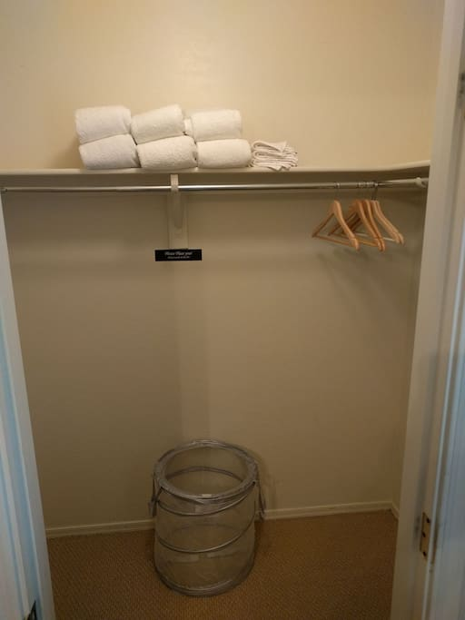 Your Luxurious Towels and Wash Cloths, and the Laundry basket where you will toss used ones in