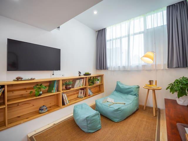 兴义万峰林景区#自在林·空气花园:loft庭院大床房