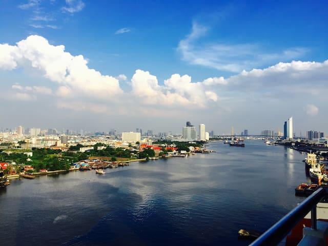 RiverfrontSuite#3 60sqm+PS3+Netflix - Bangkok - Condo