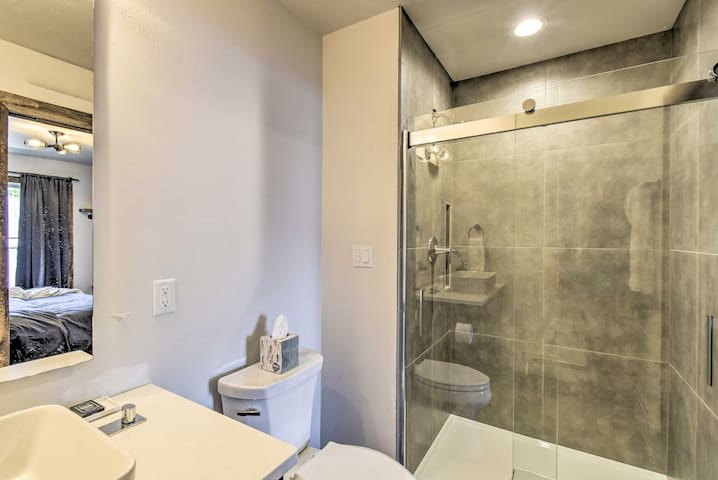 The master en-suite bathroom features a walk-in shower.
