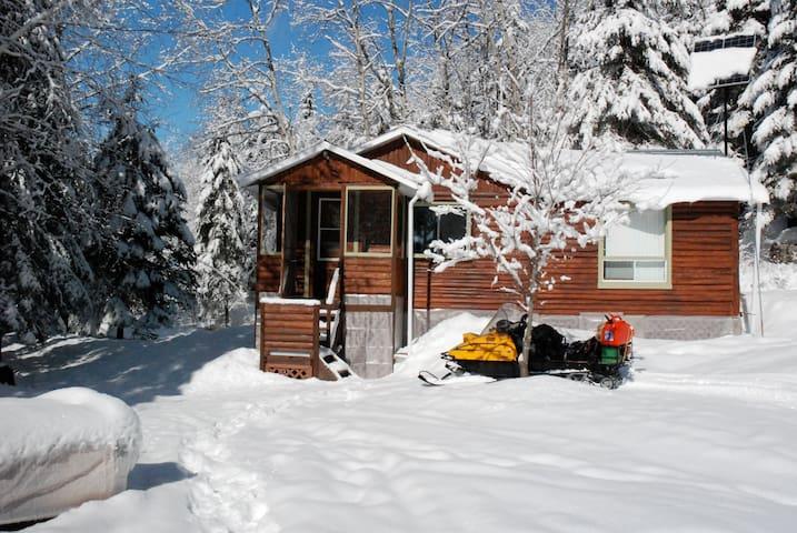 Chalet forestier d'hiver - Saint-Ambroise - Lomamökki