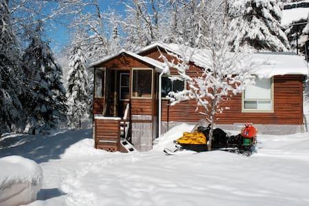 Chalet forestier d'hiver - Saint-Ambroise