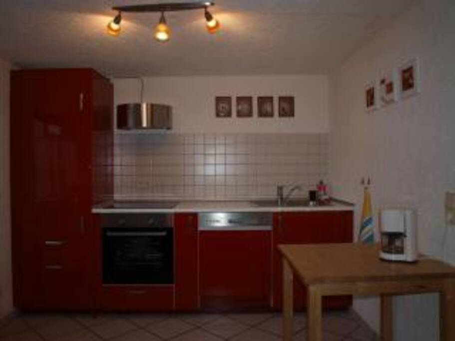 Neue Küche mit Spülmaschine, Herd usw.