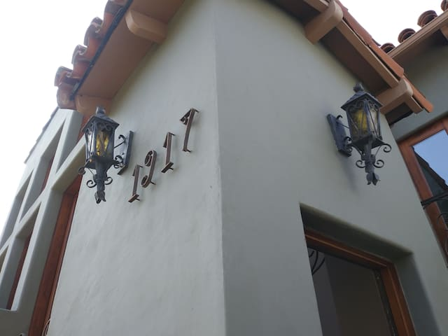 The outside lighting to light up the entry to the studio