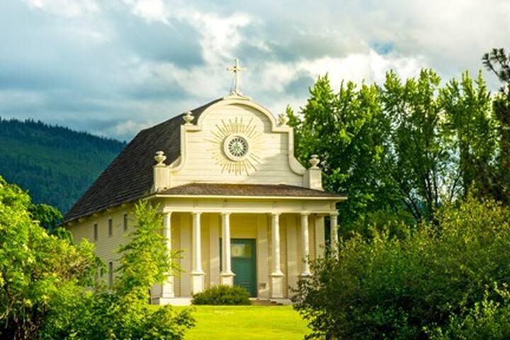 Cataldo Mission. Oldest building in Idaho.