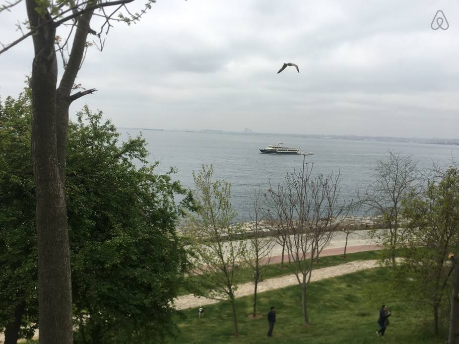 Moda is the best district for its seaside in Istanbul, you can walk here in 10 mins.