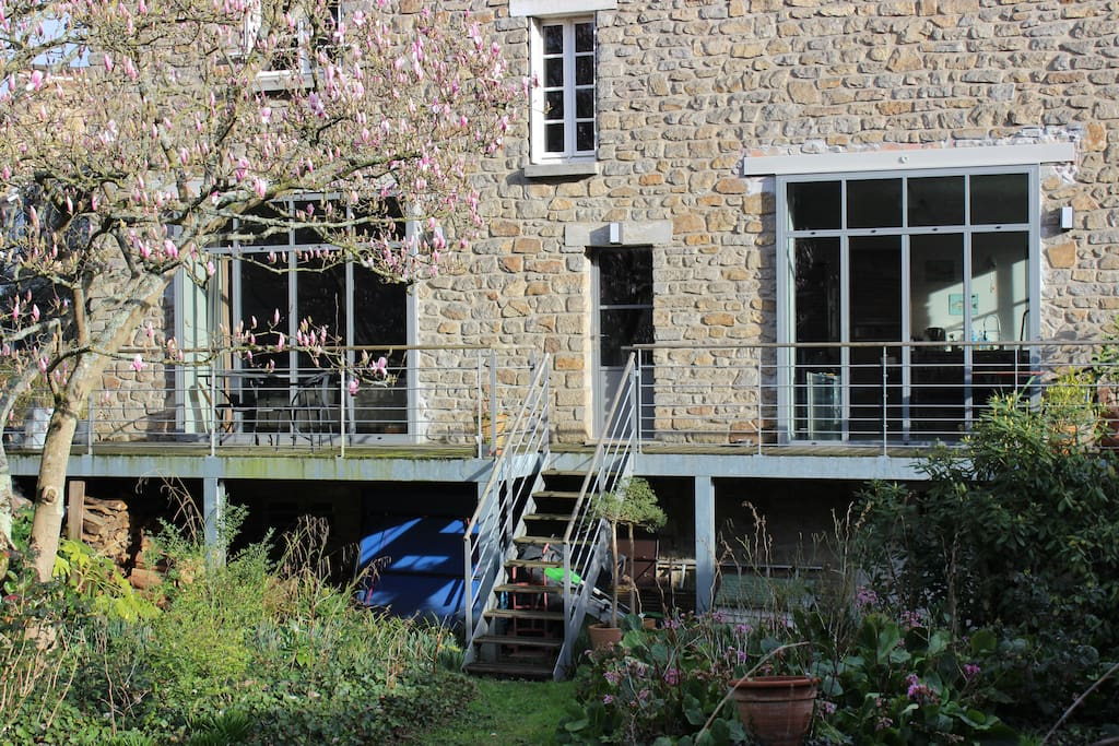 façade sur jardin