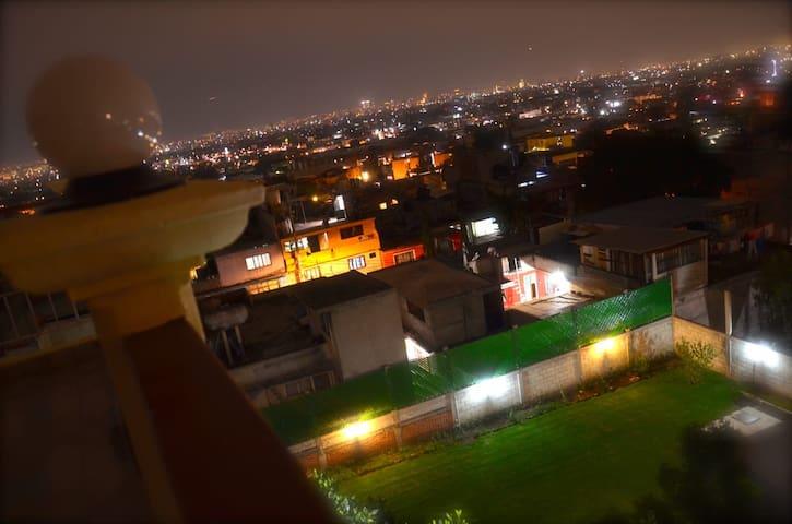 Mexico City. Cerro de la Estrella Terrace House.