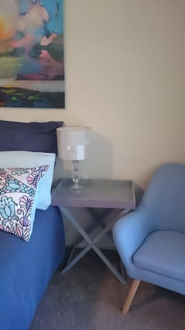 Bedside chair and lamp