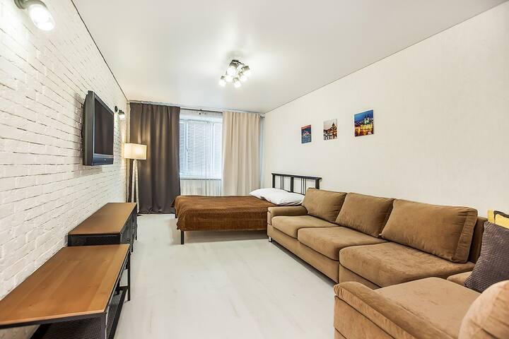 Однокомнатная квартира в стиле лофт на Тополиной38