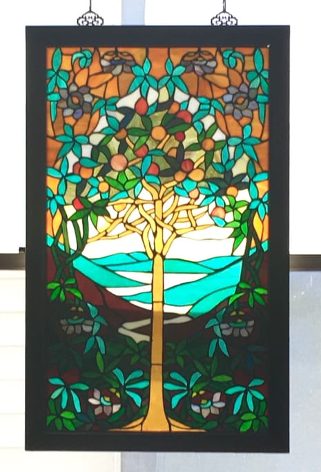 My tree of life stained glass window.