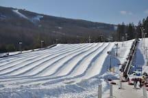 Snow Tubing on Camelback Mountain