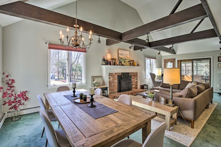 NEW! Woodland Retreat with Pool & Nearby Wineries!