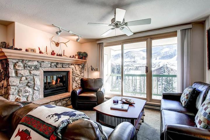 Enjoy a dip in the shared pool and hot tub upon return to your ski-in/ski-out condo