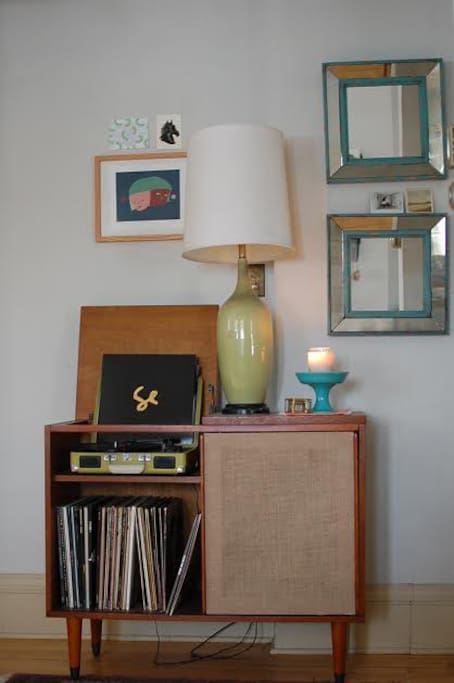 Spend time listening to some records and relaxing