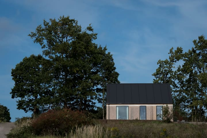 Unique new wooden house in wonderful nature