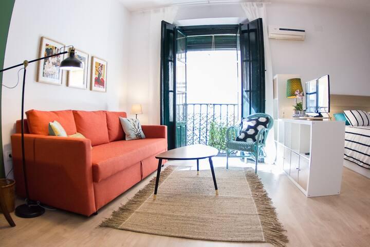 Apartamento tranquilo en casa palacio en el centro - Sevilla - Lägenhet