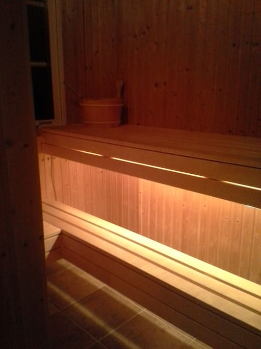 Finish Sauna with window.