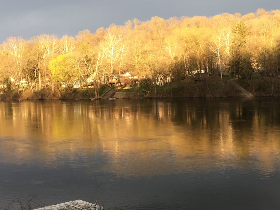 Spring Sunset along the river