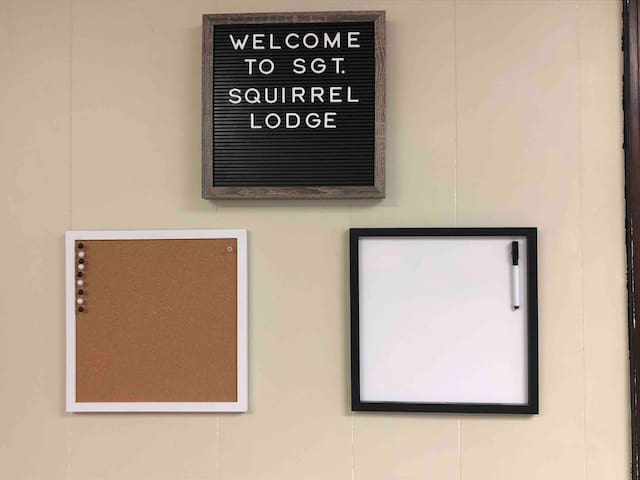 Sgt. Squirrel Lodge:  1 bedroom/studio, downtown