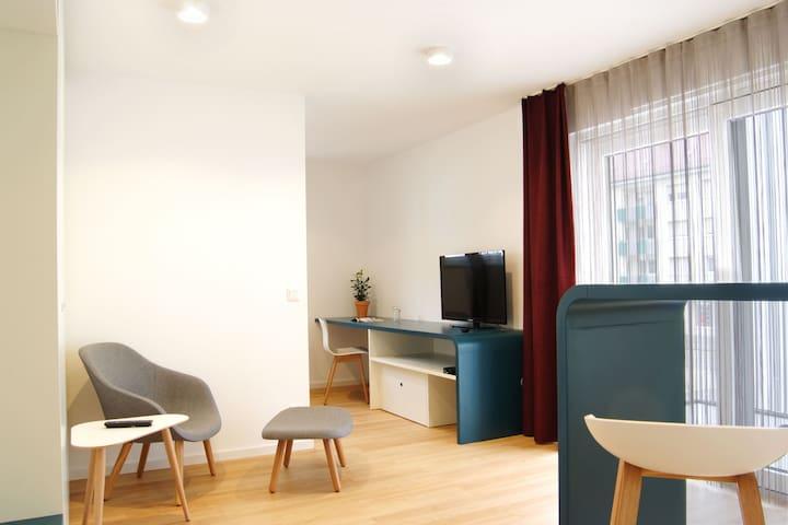 Serviced Apartments mit Balkon
