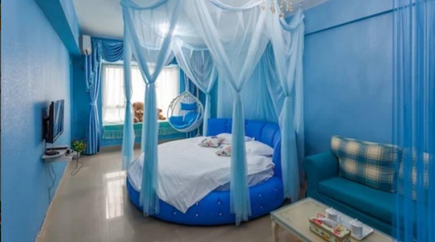 Room ng Sky Blue Theme King