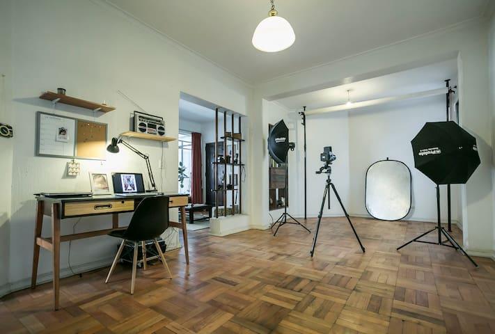 Habitación con baño privado en Santiago
