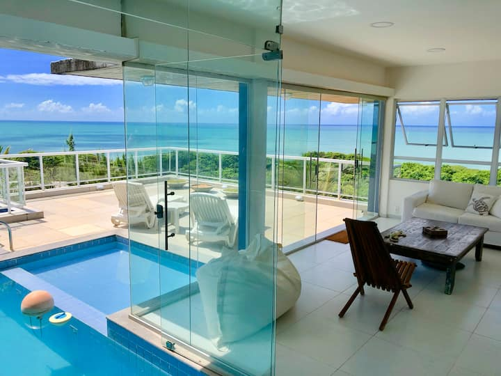 Ocean View House in Pipa, with private  Pool