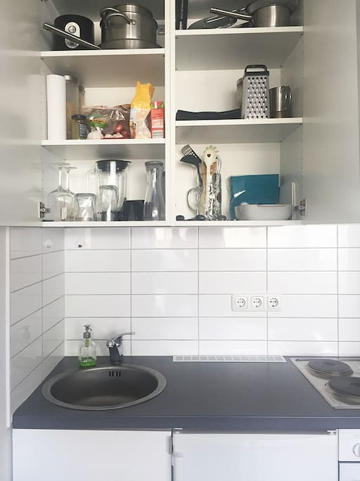 .. a kitchen with everything you'll need.
