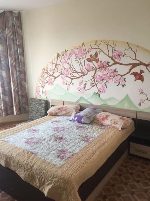 Спальня 1 (двуспальная кровать)