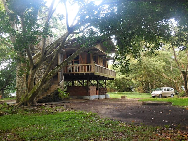Lake-front 3-level wooden-cabin - Catemaco - Chatka