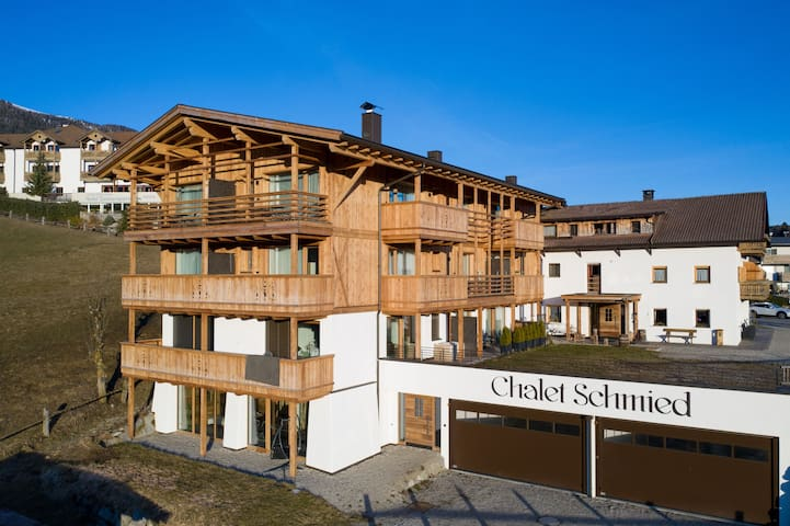 Beautiful Holiday Apartment App. II-Chalet Schmied with Wi-Fi, Sauna, Balcony, Terrace & Mountain View; Parking Available