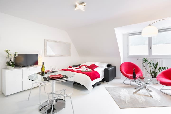 Central, cosy and modern studio with parking - Dinard - Apartment