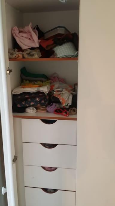 the closet, left door