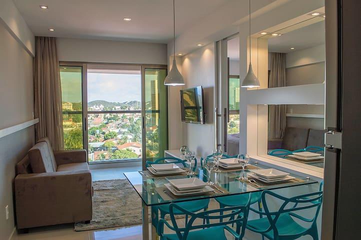 Premium flat Ponta Negra 1 Quarto a 300m da praia