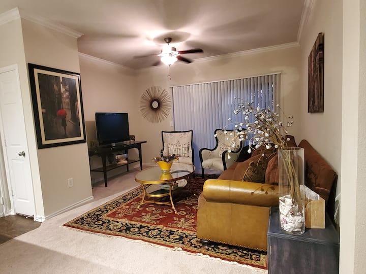 On a budget? Sleep on my couch! (Near Addison)