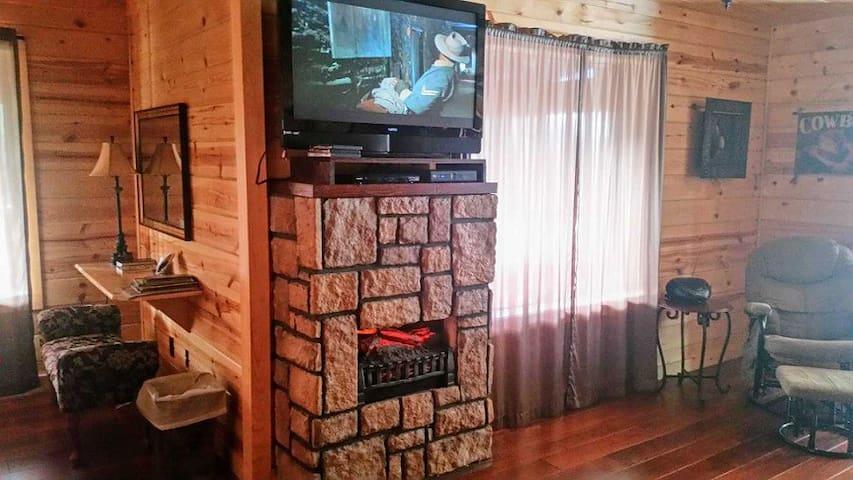 Cable TV, electric fireplace, desk area w/ WIFI