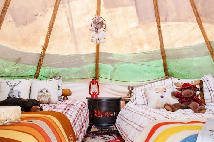 Go Glamping in an Authentic, Cozy Tipi in Topanga