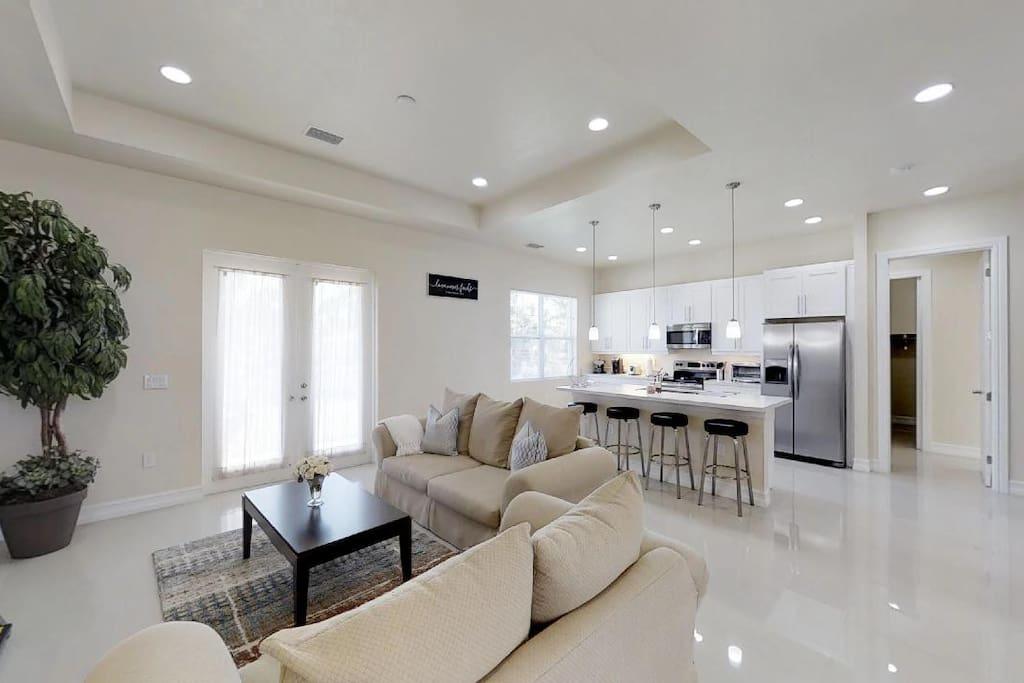 Area de sala y cocina