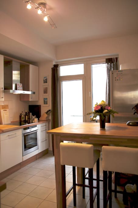Full equipped kitchen (incl. dishwasher) with access to balcony