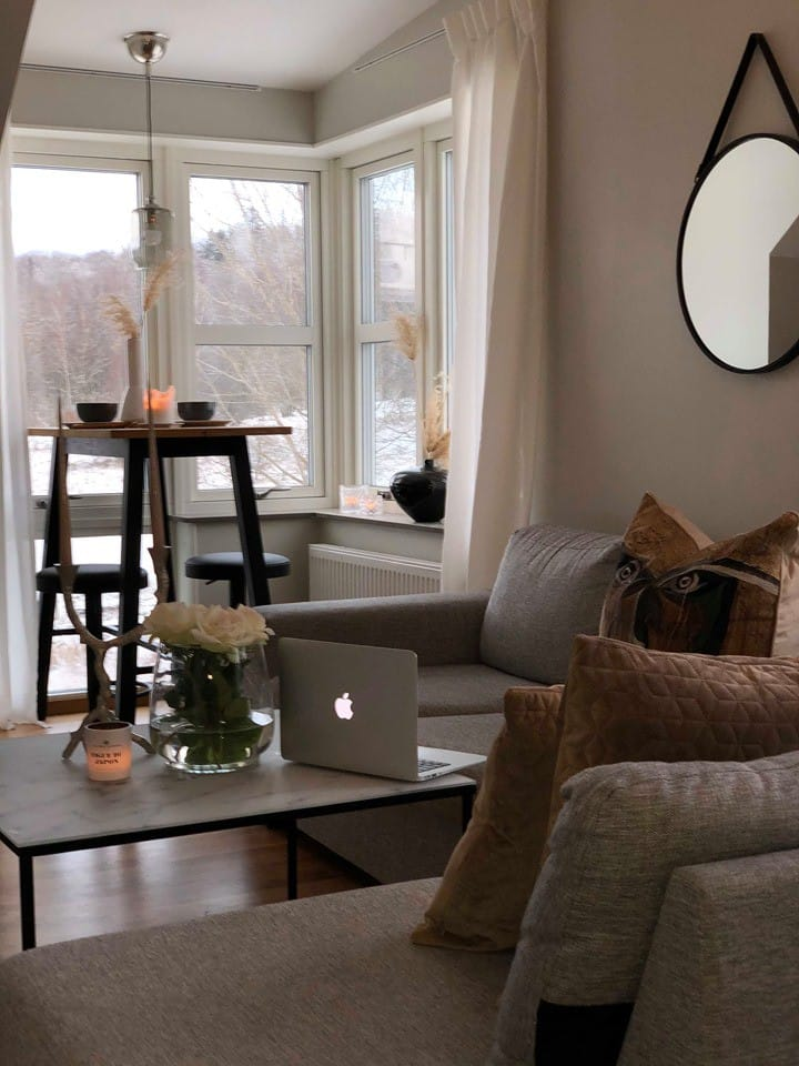 Mysig lägenhet med bra läge och fantastisk utsikt