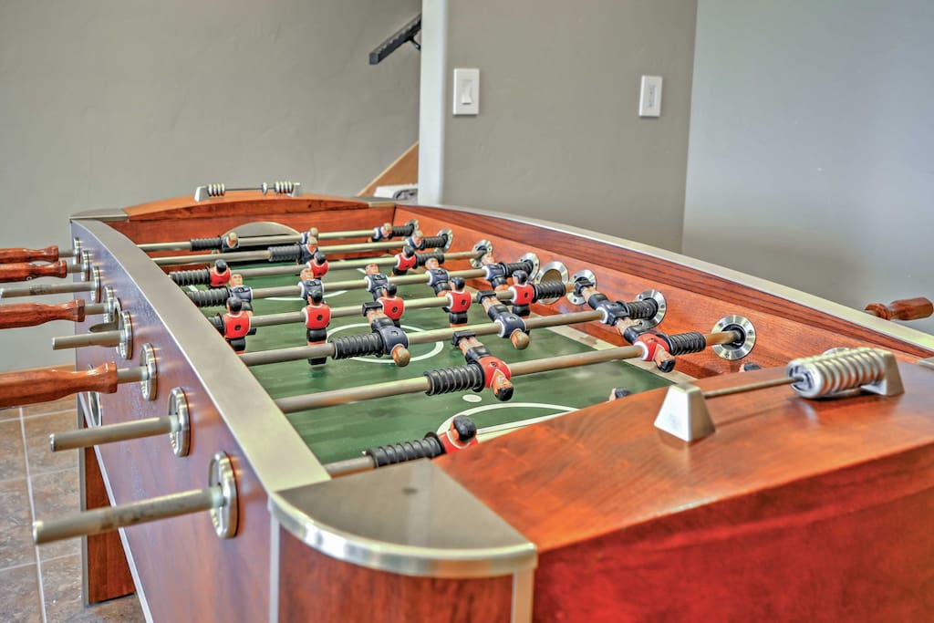 Challenge your travel mates to a friendly game of Foosball.