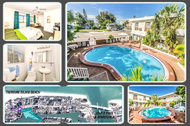 Boutique Beach Retreat, Heated Pool, Prvt Room #9