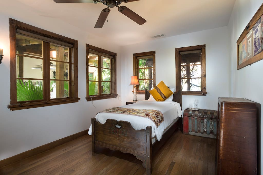 Perfect for a small growing family, Casita Verde features a super comfortable queen bed with a twin bed in the adjacent room.